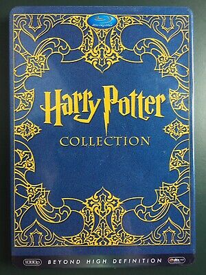 Harry Potter Blue- Ray Collection First Six Films In Steelbook