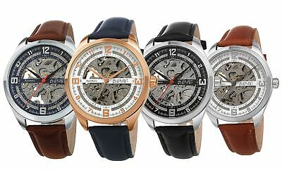 AUGUST STEINER ASA825YG Diamond Automatic Leather Strap Mens