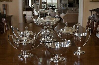 Antique Sterling Silver Tea and Coffee Service Gorham Co. Pattern Plymouth 1912