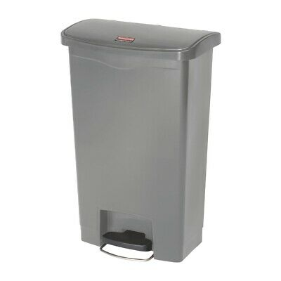 Rubbermaid Slim Jim Step On Front Step Pedal Bin Grey 50Ltr [DY115]