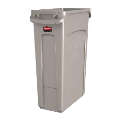 Rubbermaid Slim Jim Container With Venting Channels Beige 87Ltr [DY111]