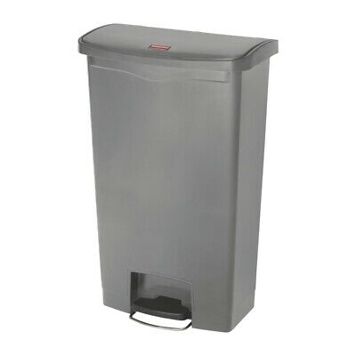 Rubbermaid Slim Jim Step On Front Step Pedal Bin Grey 68Ltr [DY116]