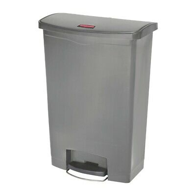 Rubbermaid Slim Jim Step On Front Step Pedal Bin Grey 90Ltr [DY117]