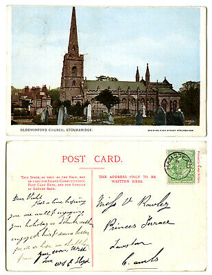 Oldswinford Church Stourbridge Brewins Postcard~Dudley/Worcestershire~Burrow