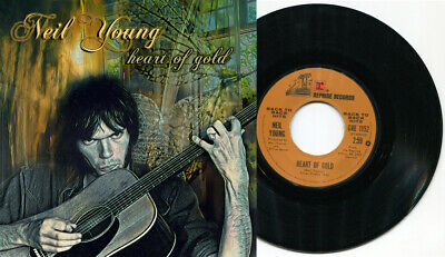 "NEIL YOUNG - Heart Of Gold / Old Man 7"" 45 UNIQUE 1 print ONLY art sleeve"