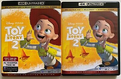 Disney Pixar Toy Story 2 4K Ultra Hd Blu Ray 2 Disc Set + Slipcover Sleeve Buzz