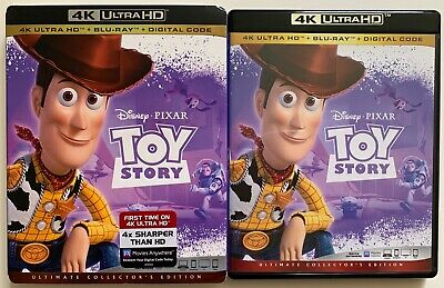 Disney Pixar Toy Story 4K Ultra Hd Blu Ray 2 Disc Set + Slipcover Sleeve Buy It