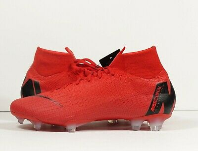 finest selection 9ca2c f1628 NIKE MERCURIAL SUPERFLY 360 Elite iD FG Soccer Cleats Red Black Custom Size  8.5