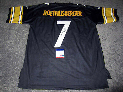 fd882fb0945 BEN ROETHLISBERGER Pittsburgh Steelers Autograph SIGNED Licensed Jersey PSA  COA