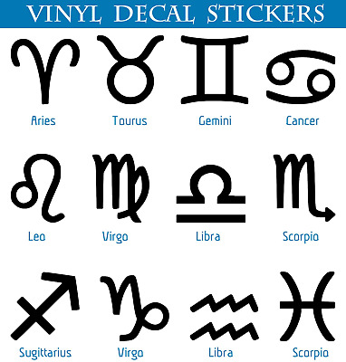 Zodiac Leo Symbol Die Cut Vinyl Car Window Decal Bumper Sticker US Seller