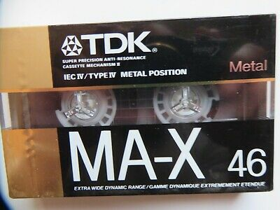 Tdk Ma-X 46 Type Iv Metal Cassette Tape-New Sealed