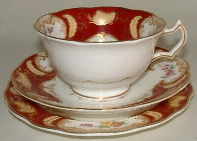 "George Jones & Son's. ""Crescent-de-Luxe"" Floral Trio. circa 1920's"