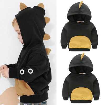 Toddler Baby Boy Long Sleeves Dinosaur Hoodie Tops T-shirt Kids Clothes Pullover
