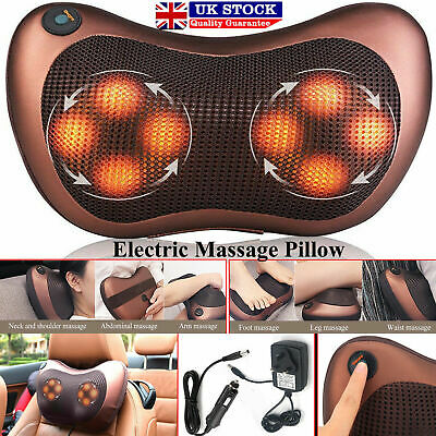 Electric Massage Pillow Lumbar Body Neck Back Shiatsu Kneading Cushion Car Home