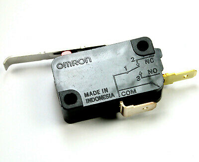 2pcs OMRON Lever Action Micro Switch SPST 11A 250VAC, 5A 40VDC, ON/OFF Joystick