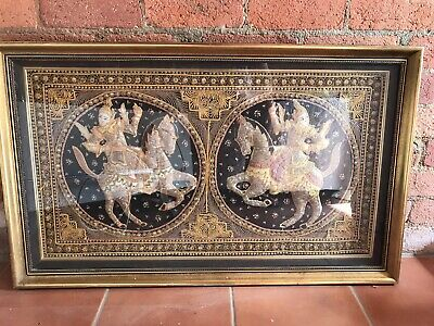 Glass framed Siam style tapestry