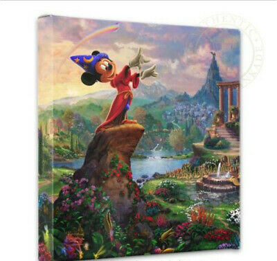 Thomas Kinkade Studios Disney Fantasia 14 x 14 Gallery Wrapped Canvas