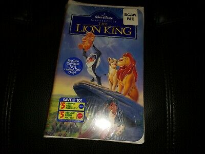 Walt Disney's The Lion King Masterpiece Edition VHS 1995 Factory Seal first