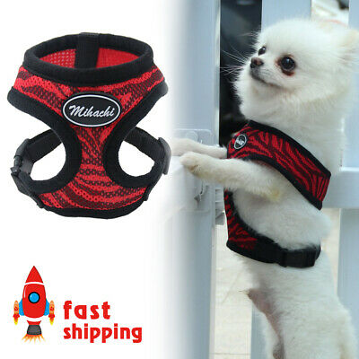 Red & Black No Pull Adjustable Dog Pet Vest Harness Soft Mesh for Small Dogs