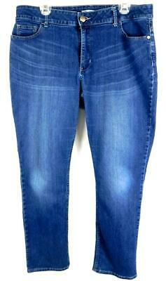 36ab89a3 Riders by lee blue denim plus size midrise curvy fit skinny jeans 18 petite