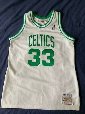 low cost 80905 a2aae Men s Mitchell   Ness NBA Boston Celtics 91-92 jersey Larry Bird  33 size