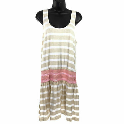 a291a8d09069df Lilly Pulitzer Tideline Dress Heathered Sand Bar Sandy Striped Sleeveless  Large