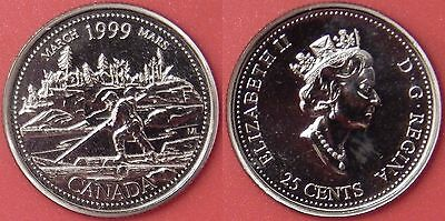 Proof Like 1999 Canada March 25 Cents From Mint's Set