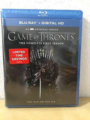 Game of Thrones: The Complete First Season Blu-Ray + Digital HD Brand New