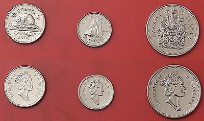 Proof Like 2000W Canada 5 Cents & 10 Cents & 50 Cents From Mint's Set