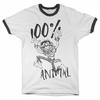 Officially Licensed The Muppets - 100% Animal Ringer T-Shirt S-XXL Sizes