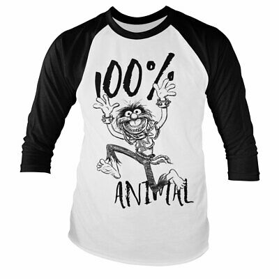Officially Licensed The Muppets - 100% Animal Baseball Long Sleeve T-Shirt S-XXL