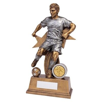 Warrior Stars Football Male Trophy Award 205mm FREE Engraving