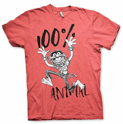 Officially Licensed The Muppets - 100% Animal Men's T-Shirt S-XXL Sizes