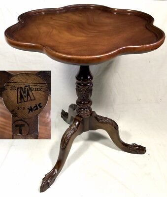 Antique Style Mahogany Wine / Occasional Table / Lamp Stand Reprodux
