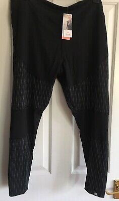 6c3918ba4072df MS AUTOGRAPH BLACK STRETCHY ACTIVEWEAR CROP LEGGINGS 3 zip pockets ...