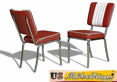 CO-24 Ruby Bel Air Furniture 2 Chairs Diner Kitchen in the Style of 1950's Years
