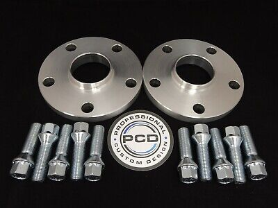 Pair 5x112 Hubcentric Spacers, 25mm Wide 57.1CB 10 TAPERED Bolts VW AUDI UK Made