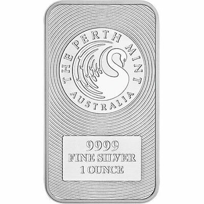 1 oz Australia Silver Kangaroo Perth Mint Bar (New)