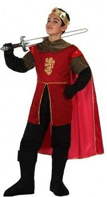 Boys Medieval King Knight Halloween Carnival Fancy Dress Costume Outfit 3-12yrs
