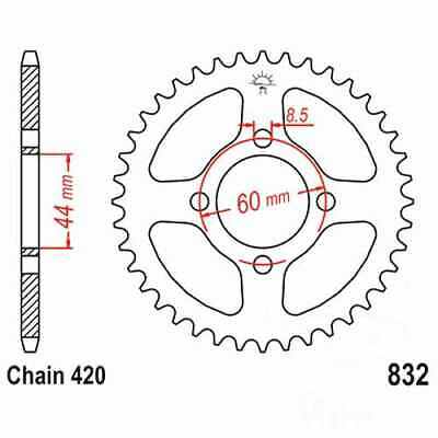 Rear Sprocket 43 Tooth 420 For Yamaha DT 50 M 1980 - 1984