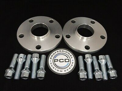 AUDI 66.5CB To VW/AUDI 57.1CB Pair 5x112 Hubcentric Spacers 15mm 10 TAP Bolts UK