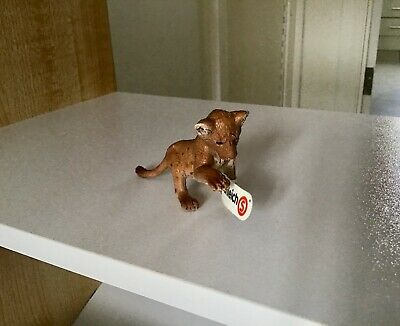 Schleich 14377 Lion Cub Playing Africa Wild Life Toy Animal Figure - New