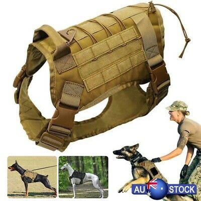 Large Dog Military Tactical Training Vest Harness Water Resistant Harness AU