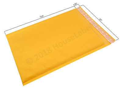 "25 Bags #4 9.5""X14.5"" KRAFT Bubble Mailer Padded Envelope Interior 9.5""X13.5"""