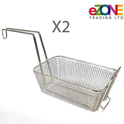 2x Frying Basket Spare for VALENTINE Fryer C94 P1 P194 Pension1 94 Zenith