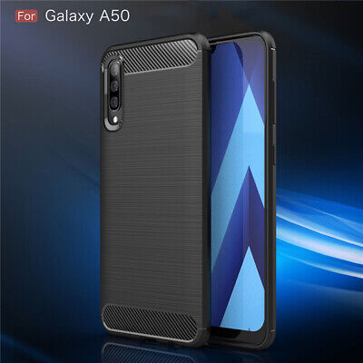 For Samsung Galaxy A70 Case A50 A30 M20 A10 Soft Carbon Fiber Ultra Slim Cover
