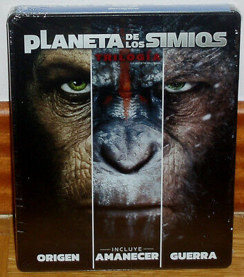 Trilogie The Planet Of The Apes 3 Blu-Ray Neuf Steelbook (sans Ouvrir) R2
