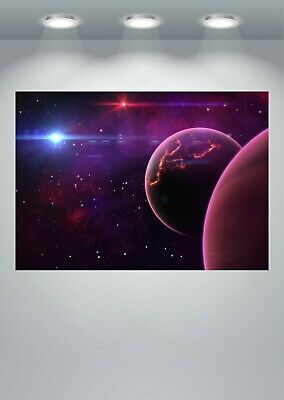 Space Stars Planets Poster Art Print in multiple sizes