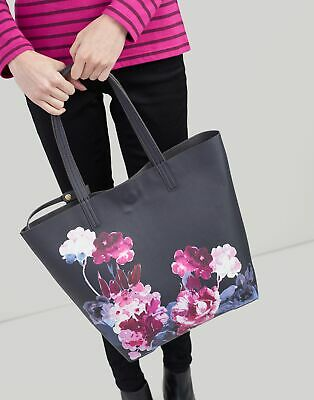 Joules Womens Revery Print Reversible Tote ONE in BLACK WINTER FLORAL in