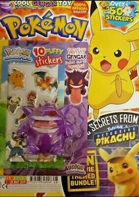 Pokemon Official Magazine Issue 28 With Free Squishy Gengar Figure